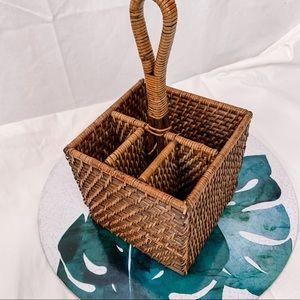 Wicker Basket / Cutlery Caddy